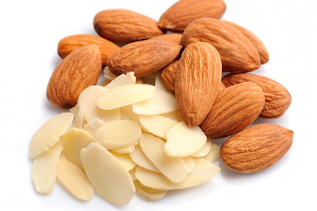 Almond flakes - calories, kcal, weight, nutrition