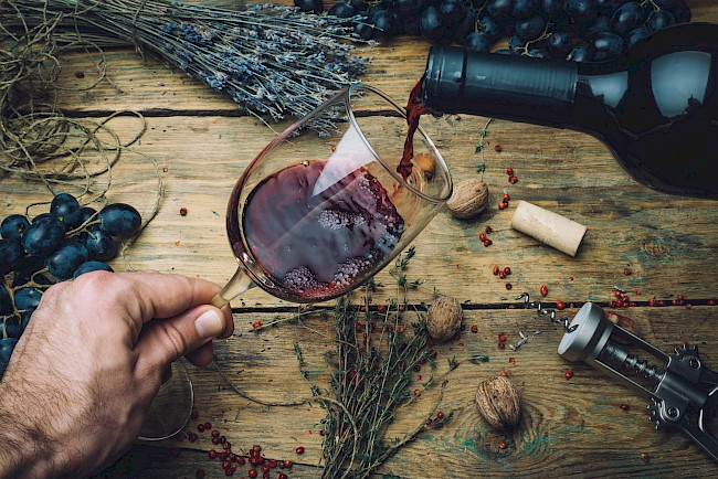 Red wine - calories, kcal